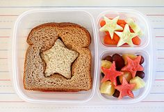 Kids start sandwich lunch box