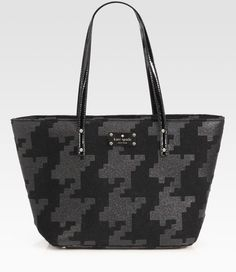 Kate Space Small Harmony Printed Felt Tote Bag - Lyst
