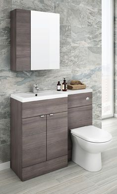 Add Coordinated Bathroom Furniture To Achieve A More Luxurious Finish. Grey  Is Definitely The Colour