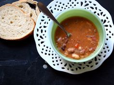 Slow Cooker Ham & Bean Soup -- seriously budget friendly!
