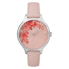 Create an everlasting impression with any look by wearing the Crystal Bloom Watch with Leather Strap from Timex. This pink analog watch will add a dose of feminine charm once you don it over your wrist — the gorgeous florals within the round face perfectly complement your girly style. The watch is water-resistant up to 30 meters, allowing you to make a stylish statement anywhere you go. The pink dial and band, round face and silver brass hardware give it a sophisticated look, while ...