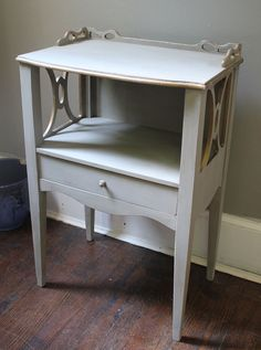 French Style Nightstand or Side Table on Etsy, $155.00