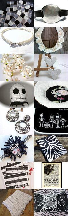 BLACK and WHITE  Team Unity by Ellen Segal-Smith on Etsy--Pinned with TreasuryPin.com