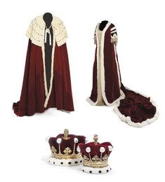 Coronation Robes-Earl and Countess of Tunis London, 1838 Royal Crowns, Royal Jewels, Crown Jewels, King Costume, African Royalty, Court Dresses, 18th Century Fashion, Royal Life, Medieval Costume