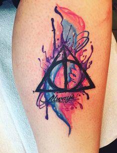 My new tattoo Harry Potter, deathly hallows . - My new tattoo Harry Potter, deathly hallows - Harry Potter Tattoos, Harry Potter Drawings, Harry Potter Art, Tattoo Tod, Hp Tattoo, Tiny Tattoo, Tattoo Flash, Neue Tattoos, Body Art Tattoos
