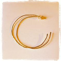 Hammered Hoop Earrings www.zahavah.com