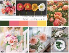 Wedding Inspiration | STEMS Floral Design | Mood Board | Vision Board | Austin Florist | Summer Wedding | Coral | Pink | Peach | Green Wedding | Garden Wedding