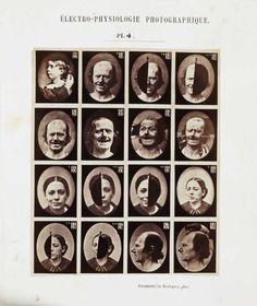 Les expressions électriques du visage par Duchenne de Boulogne