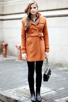 Rust trench coat