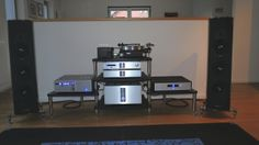 BASSOCONTINUO Reference Line bespoke rack with Krell and Sonus Faber