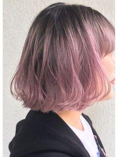Hair Color Purple, Cool Hair Color, Green Hair, Pink Hair, Korean Hair Color, Ulzzang Hair, Brown Blonde Hair, Aesthetic Hair, Dye My Hair