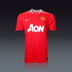 2c7d7fe9aae Nike Manchester United Home Jersey 11 12 Soccer Gear