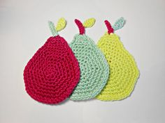 Handmade crochet coasters in a set of 6.  The set include 2 coasters fuchsia color, 2 light green and 2 yellow.    Use this collection every