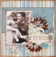 Fathers day scrapbook layout