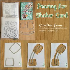 Carolina Evans - Stampin' Up! Demonstrator, Melbourne Australia: Crazy Crafters Blog Hop - Special Guest Wendy Cranford - Pouring Jar Shaker Card