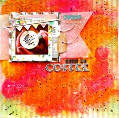 Do you like coffee? I like coffee! Coffee is my happiness.When depressed. sweet coffee is the best! Sweet Coffee, I Love Coffee, My Coffee, Vibrant Colors, Stamp, My Love, Scrapbooking, Instagram Posts, Cards