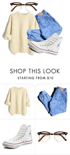 """ i've been down so long it look like up to me "" by sydthekyd01 on Polyvore featuring Levi's and Converse"