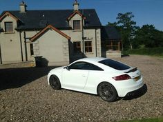 White Audi TTS S-Tronic Black Edition Belfast Picture 2