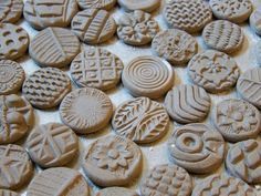 Bisque Stamps for pottery polymer PMC play doh by chARiTyelise, $35.00