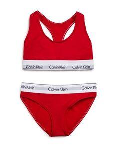 Calvin Klein Underwear Modern Cotton Bralette and Bikini Gift Set Cotton Lingerie, Cotton Bralette, Buy Lingerie, Lingerie Sets, Bralette Bras, Calvin Klein Femmes, Calvin Klein Red, Calvin Klein Bralette Set, Gym Outfits