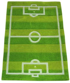 Elegant Football And/or Soccer Rug. Love, Love It!