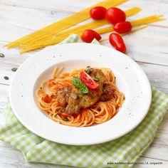 Steirische Piccata Spaghetti, Pasta, Ethnic Recipes, Food, Cooking Recipes, Pasta Meals, Fresh, Essen, Noodles