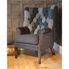 If possible an even more magnificent chair than the standard MacKenzie chair featuring a patchwork deep buttoned back.