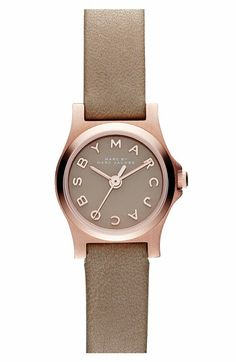 henry dinky leather strap watch / marc by marc jacobs