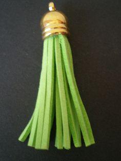 Pandantiv faux,verde,55cm