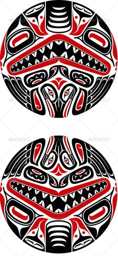 Haida Style Tattoo Design — JPG Image #hunting #inuit • Available here → https://graphicriver.net/item/haida-style-tattoo-design/3667737?ref=pxcr