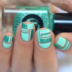 Nail Art Idea Diy Nails, Cute Nails, Pretty Nails, Tape Nail Art, Acrylic Nail Art, Beautiful Nail Art, Gorgeous Nails, Nail Art Designs, Do It Yourself Nails