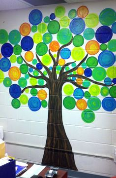 library mural..create w paper?