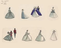 Cinderella costume design from #DisneyAnimated. Download the app: http://di.sn/gJT
