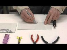Learn the basics of cutting art glass into shapes useing relief cuts.