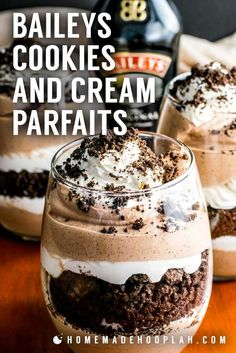 10 Best Baileys Dessert Recipes Are you looking for some delicious St. Check out the 10 Best Baileys Dessert Recipes for the holiday or any day! Decadent Chocolate, Chocolate Desserts, Chocolate Lovers, Chocolate Cookies, Chocolate Parfait, Oreo Desserts, Chocolate Mouse, Chocolate Cream, Chocolate Pudding