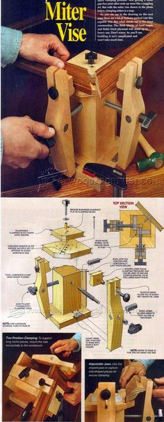 Shopmade Miter Vise - Clamp and Clamping Tips, Jigs and Fixtures   WoodArchivist.com