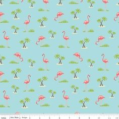 Samantha Walker - Samantha Walker Novelty - Flamingo in Aqua