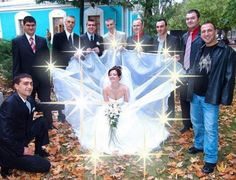 Orrendi ritocchi foto matrimonio.