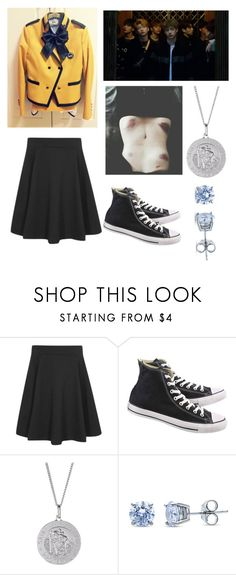 """Bullies"" by darkwolf15 ❤ liked on Polyvore featuring George, Converse and BERRICLE"