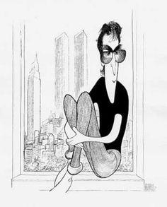#Caricature: John Lennon by Al Hirschfeld -