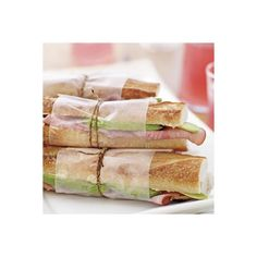 Turkey, Brie, Bacon, and Cranberry Sandwich found on Polyvore