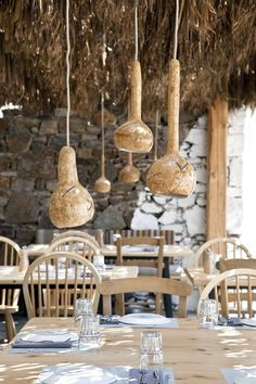 ligting at Alemagou, Ftelia Beach Mykonos is a place to dine, drink and chill in style