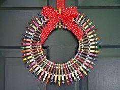 (wreath) crayon wreath
