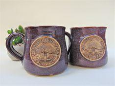 Coffee Mug Pair New Barn Field Pottery Dorset British Regional Pottery
