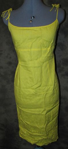 Planet,ladies,size 12,yellow,linen,no pattern,strappy,calf length,casual,dress.£7-99p with free uk postage