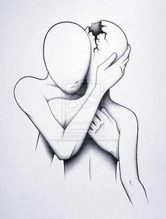 #broken #hug #comfort #love #sad