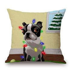 I bet you have never seen something like this before.  View the new arrival  at http://www.erynhome.com/products/merry-christmas-french-bulldog-decorative-throw-pillow?utm_campaign=social_autopilot&utm_source=pin&utm_medium=pin  Merry Christmas F...