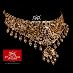 Silver Pendant For Women Gold Bangles Design, Gold Earrings Designs, Gold Jewellery Design, Necklace Designs, Gold Jewelry, Beaded Jewelry, Indian Jewelry Sets, Indian Wedding Jewelry, India Jewelry