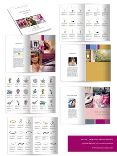 This modern product catalog template is available in A4 format and it is in full…
