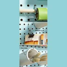 Make Hooks Hold More Some items won't hang directly on pegboard hooks. But with a little ingenuity, you can make hooks hold just about anything. Here are three ideas: